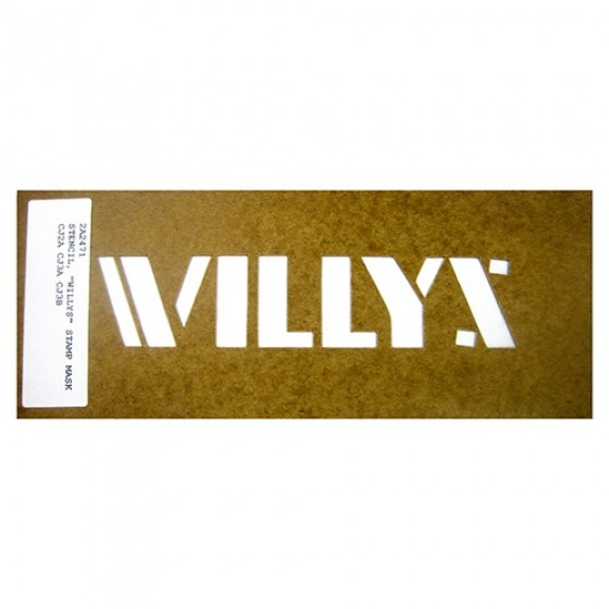 "Paint Stencil Decal ""Willys"" Fits 41-72 Jeep & Willys"
