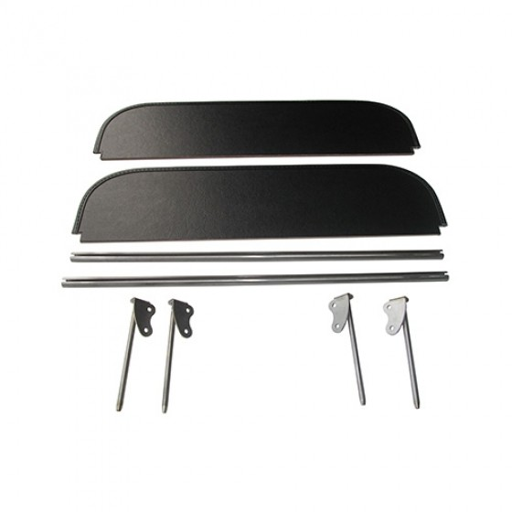Complete Sun Visor Kit, Pair, 46-51 Jeepster, Station Wagon with Planar Suspension