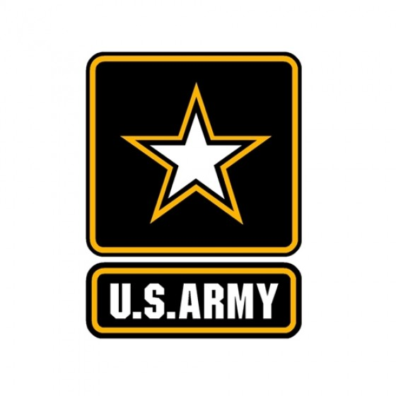 "New 4"" U.S. Army Star Decal Fits 41-71 Jeep & Willys"