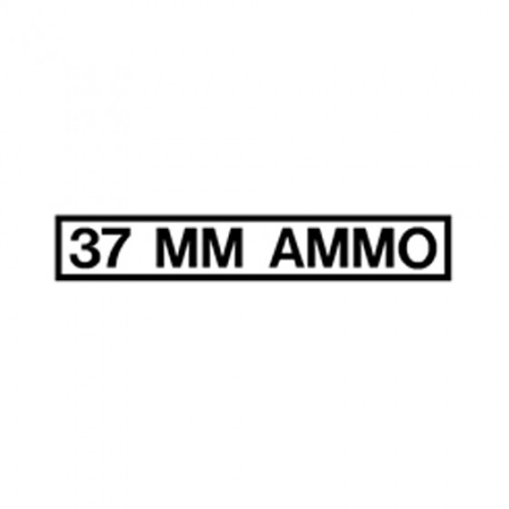 New 37 MM Ammo Decal Fits 41-71 Jeep & Willys
