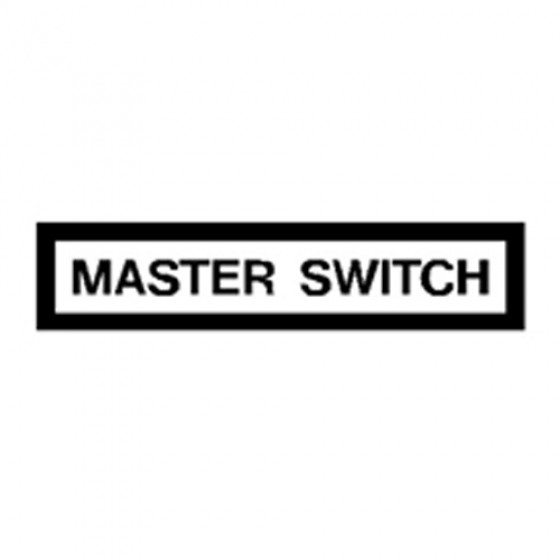 New Master Switch Decal Fits 41-71 Jeep & Willys
