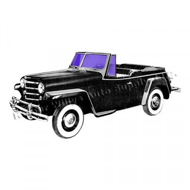 New Replacement 4-Piece Glass Kit Fits 48-51 Jeepster