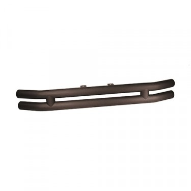 Front Tube Bumper without Riser in Text Black, 76-86 CJ
