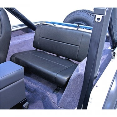 Standard Rear Seat in Black Denim, 76-86 CJ