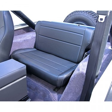 Fold and Tumble Rear Seat in Black, 76-86 CJ