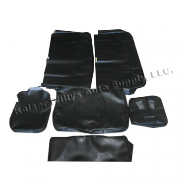 Quilted Vinyl Seat Cover Set w/ Caps for Bench Seat  Fits  48-51 Jeepster