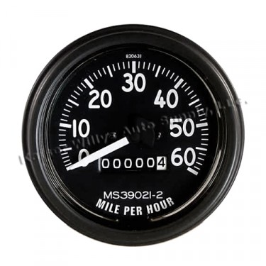 Complete Speedometer Assembly 0-60 MPH, 46-64 Willys & Jeep