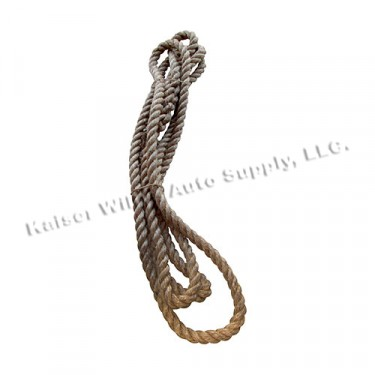 Genuine Manilla Bumper Rope, 41-71 Willys and Jeep