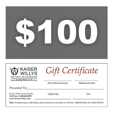 $100 Gift Certificate to Kaiser Willys
