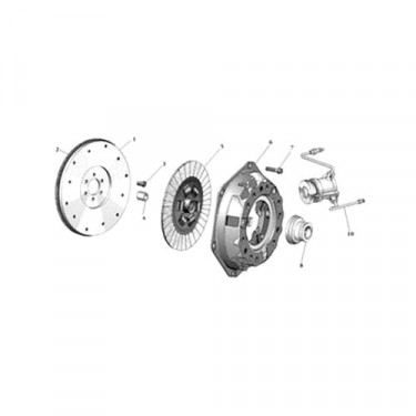 Clutch Disc in 11 Inch, 80-83 CJ with 6 or 8 Cylinder