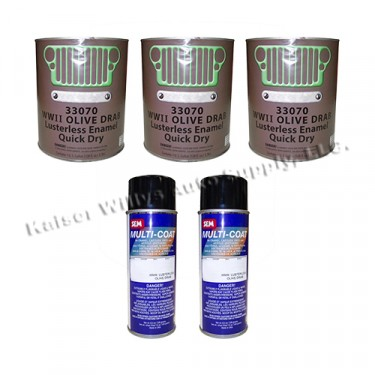 Olive Drab Green Flat Body & Chassis Paint Kit