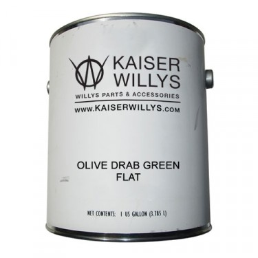 Olive Drab Green Flat Paint, 41-71 Jeep & Willys