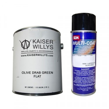 Olive Drab Green Flat Chassis Paint Kit,  41-71 Jeep & Willys
