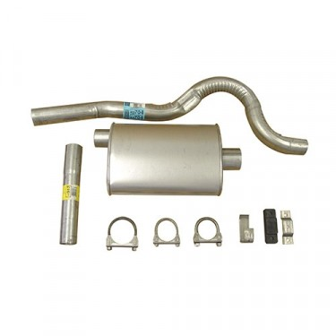 Cat Back Exhaust Kit, 81-85 CJ-8 with 6 Cylinder
