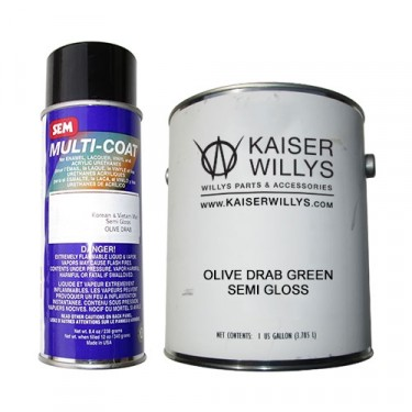 Olive Drab Green Semi Glass Chassis Paint Kit, 41-71 Jeep & Willys
