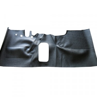 Moulded Front Floor Mat in Black Rubber, 41-72 Jeep & Willys