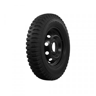 """STA Non Directional Tire 6.00 x 16"""" 6 ply Square Shoulder Fits 41-71 Jeep & Willys"""