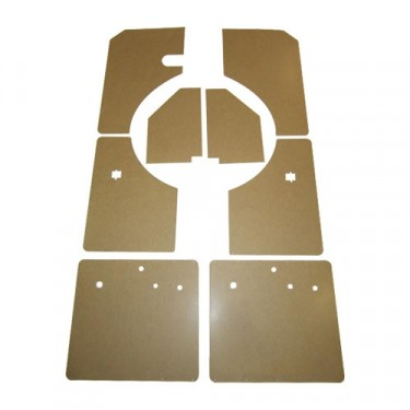Complete 8 Piece Late Interior Door & Kick Panel Kit, 54-64 Station Wagon