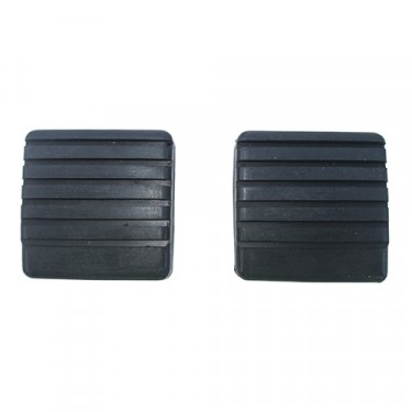 Clutch & Brake Pedal Rubber Pad (sold as pair), 67-73 CJ-5, Jeepster Commando