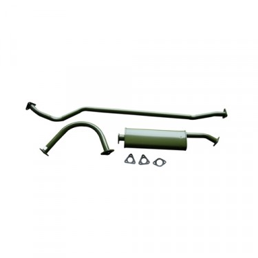 Complete Exhaust System Kit, 50-66 Willys M38, M38A1