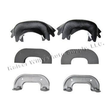 Black Arm Rest Kit, 50-64 Truck, Station Wagon