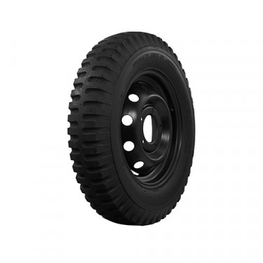 """STA Non Directional Tire 7.00 x 16"""" 6 ply Square Shoulder Fits 41-71 Jeep & Willys"""