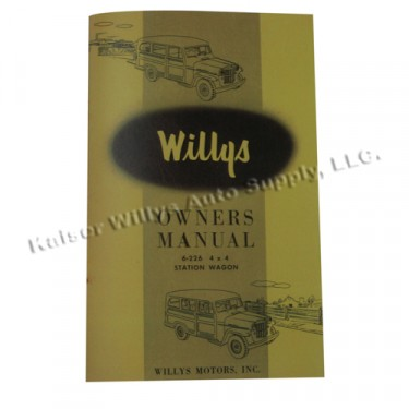 Owners Manual  Fits  54-55 Station Wagon
