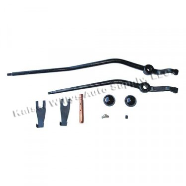 Transfer Case Dual Shift Lever Kit, 41-71 Jeep & Willys with D18 transfer case