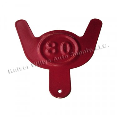 Jerry Can Octane Tag, Red, All Jeep Vehicles