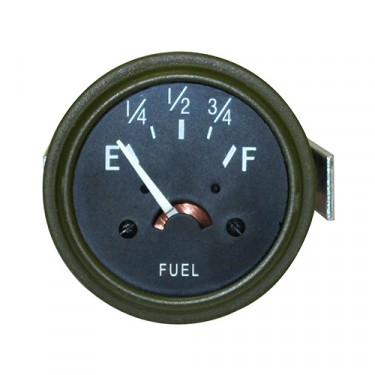 Instrument Panel Fuel Gauge in 12 Volt, 41-45 Willys & Ford MB, GPW