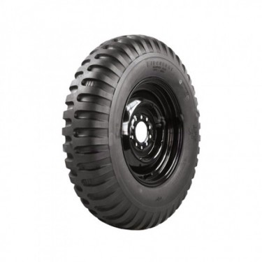 """Firestone Non Directional Tire 7.00 x 16"""" Round Shoulder  Fits  41-71 Jeep & Willys"""