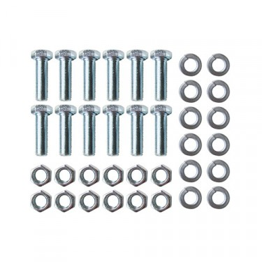 Rear Brake Backing Plate to Axle Hardware Kit, 46-55 Jeepster, Station Wagon with 10 Inch brakes