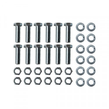 Rear Brake Backing Plate to Axle Flange Hardware Kit, 47-62 Truck with Timken rear axle