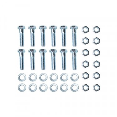 Rear Backing Plate to Axle Flange Hardware Kit, 46-64 Truck with 11 Inch brakes