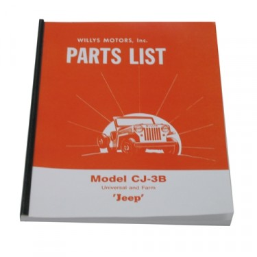 Master Parts List Manual Fits 53-64 CJ-3B