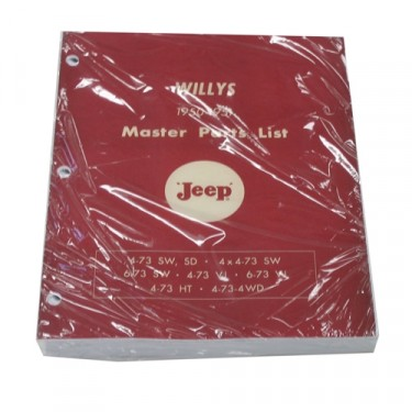 Master Parts List Manual Fits 50-51 Truck, Station Wagon, Jeepster
