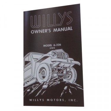 Owners Manual Fits 56-64 Truck