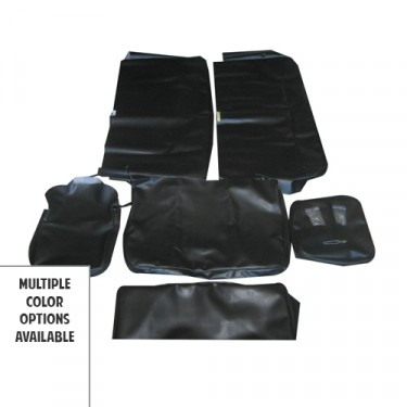 Smooth Vinyl Seat Cover Set w/ Caps for All 4 Seats  Fits  48-64 Station Wagon