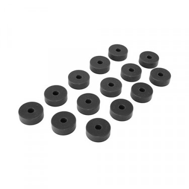 Prothane 14 Piece Body Mount Kit in Black, 72-75 CJ-5