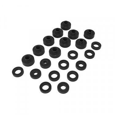 Prothane Body Mount Bushing Set in Black, 76-79 CJ-5, CJ-7