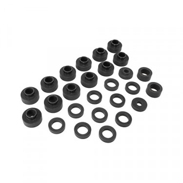 Prothane Body Mount Bushing Set in Black, 81-86 CJ-8