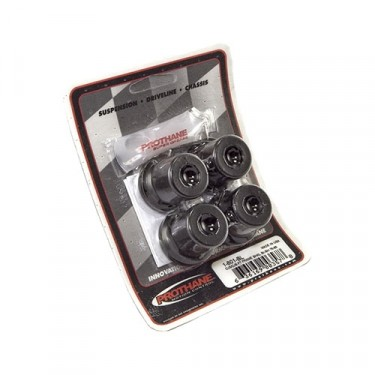 Prothane Front Spring and Shackle Bushing Kit in Black, 76-86 CJ