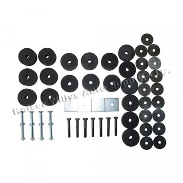 Complete Body Mount Kit with Hardware, 41-71Kaiser Willys and Jeep