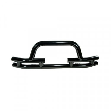 Front Tube Bumper with Winch Cutout in Black, 76-86 CJ