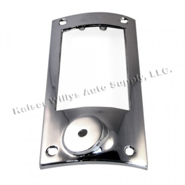 Chrome Tail & Stop Light Bezel, 52-64 Willys Station Wagon