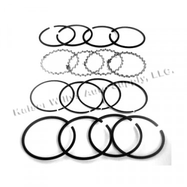 "New Complete Piston Ring Set - .040"" o.s.  Fits  41-71 Jeep & Willys with 4-134 engine"