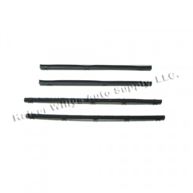 Inner & Outer Rear Quarter Window Sweeps, 67-72 Jeepster