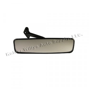 Rear View Mirror in Black Plastic, 41-64 Willys Jeep