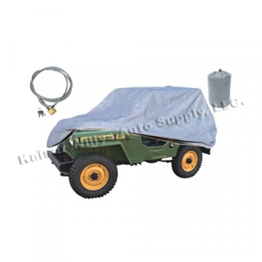 Full Car Cover Kit, 3 Piece, 41-71 MB, GPW, CJ-2A, 3A, 3B, 5, M38, M38A1