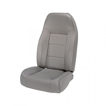 High-Back Front Seat, Non-Recline in Gray, 76-86 CJ